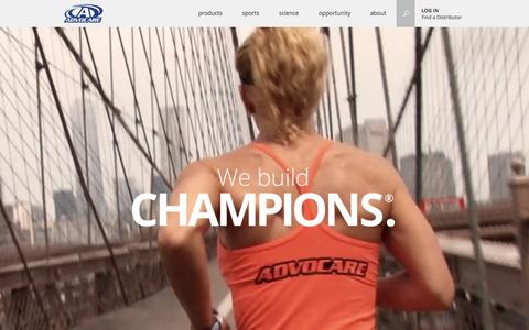 Screenshot of Home Page advocare.com - AdvoCare - We Build Champions - captured Oct. 1, 2015