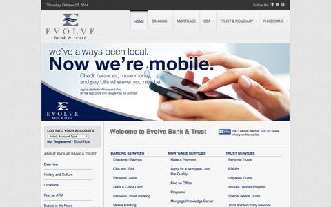 Welcome to Evolve Bank & Trust
