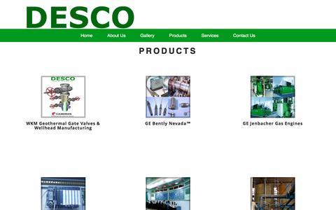 Screenshot of Products Page desco.ph - DESCO - captured Nov. 24, 2016
