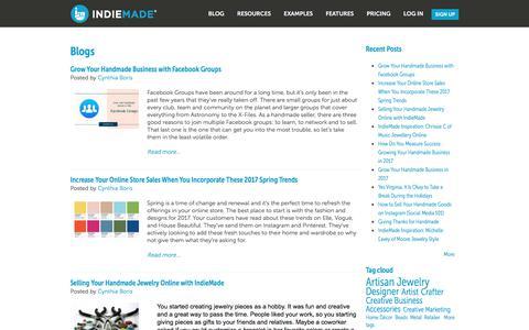 Screenshot of Blog indiemade.com - Blogs | IndieMade - captured June 7, 2017