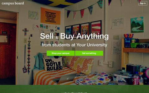 Screenshot of Home Page campusboard.co.uk - Campusboard: Sell and buy anything from students on your University Campus - captured Sept. 27, 2014