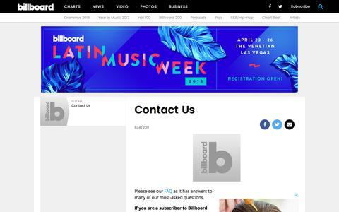 Contact Us | Billboard