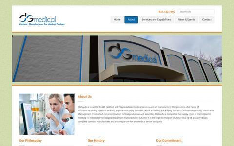 Screenshot of About Page dg-medical.com - DG MedicalAbout » DG Medical - captured Sept. 30, 2014