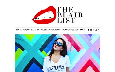 Screenshot of Home Page theblairlist.com - - Your favorite source for hip hop and fashion. - captured Oct. 7, 2014