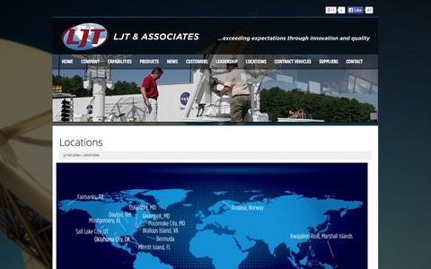 Screenshot of Locations Page ljtinc.com - LJT & Associates - captured Oct. 1, 2014