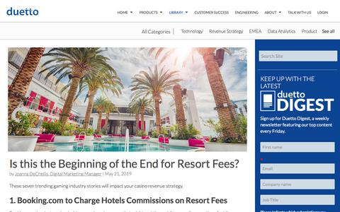 Screenshot of Pricing Page duettocloud.com - Is this the Beginning of the End for Resort Fees? - captured Jan. 6, 2020