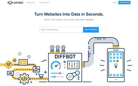 Automated Web Data Extraction & Web Crawler - Diffbot