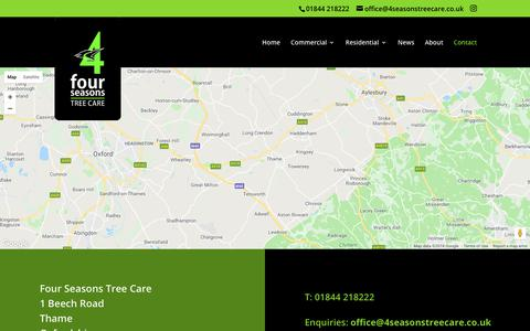 Screenshot of Contact Page 4seasonstreecare.co.uk - Contact 4 Seasons Tree Care In Thame For Professional Tree Work & Services - captured Oct. 11, 2018