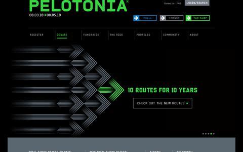 Screenshot of Home Page pelotonia.org - Home -Pelotonia | One Goal - captured June 12, 2018