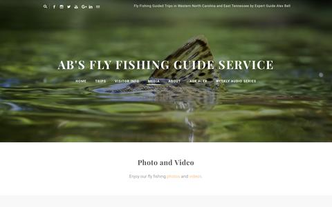 Screenshot of Press Page abfish.org - Media - AB's Fly Fishing Guide Service - captured Feb. 4, 2016