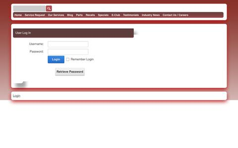 Screenshot of Login Page totemappliance.com - User Log In - captured Oct. 7, 2014