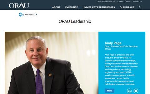 Screenshot of Team Page orau.org - Leadership | ORAU - captured Sept. 21, 2018