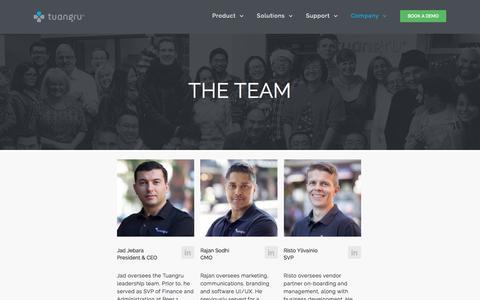 Screenshot of Team Page tuangru.com - Team | Hybrid IT Management Software | DCIM Tools | Tuangru - captured Sept. 21, 2018