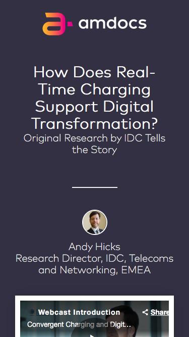 Download Amdocs & IDC Whitepaper: Planning for Digital Transformation