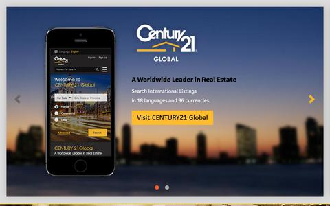 Screenshot of Home Page century21.com - Residential Real Estate Listings - Homes for Sale by Real Estate Agents | CENTURY 21 - captured Oct. 16, 2017