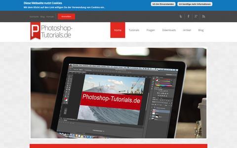 Screenshot of Home Page photoshop-tutorials.de - Photoshop-Tutorials.de - kostenlose Video Tutorials und Workshops - captured June 11, 2016