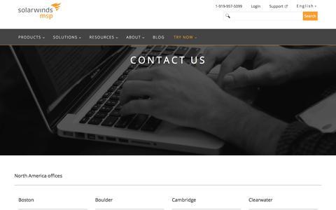 Contact Us | SolarWinds MSP
