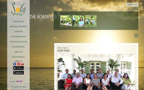 Screenshot of Team Page solis-io.com - Our team | Solis - captured Feb. 15, 2016