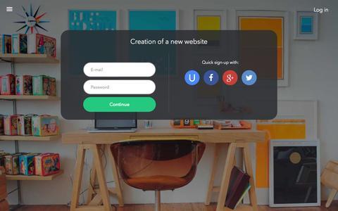 Screenshot of Signup Page ucoz.com - Create your own website - uCoz - captured Nov. 24, 2015