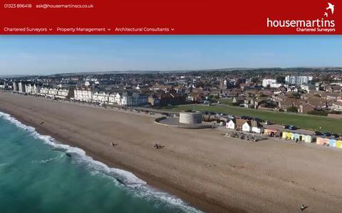 Screenshot of Home Page housemartinscs.co.uk - Housemartins Chartered Surveyors - Independent Chartered Surveyors - captured Nov. 11, 2018