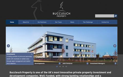 Screenshot of Home Page buccleuchproperty.com - Buccleuch Property - captured Sept. 30, 2014