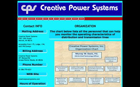Screenshot of Contact Page creativepowersystems.net - Contacting Creative Power Systems - captured July 23, 2018