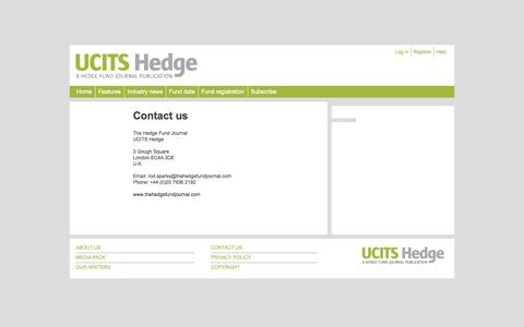 Screenshot of Contact Page ucitshedgefunds.com - Contact us - UCITS - captured Oct. 3, 2014