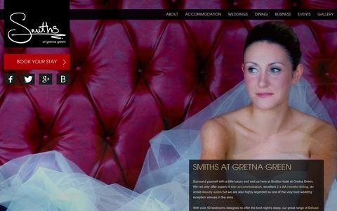 Screenshot of Home Page smithsgretnagreen.com - Smiths at Gretna Green 4 Star Luxury Hotel Accommodation & Weddings - captured Feb. 15, 2016
