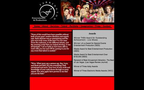 Screenshot of Press Page farringtonentertainment.com - Farrington Entertainment & Productions - Press - captured Oct. 5, 2014