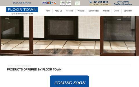Screenshot of Products Page floor-town.com - Flooring Products in New Jersey from Floor Town   New Jersey Flooring - captured June 5, 2017