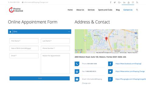 Screenshot of Contact Page shaping-change.com - Contact Us - Shaping Change - captured Dec. 21, 2016