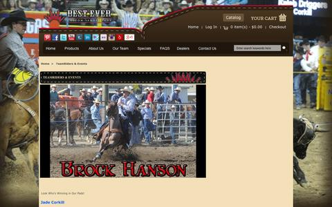Screenshot of Team Page besteverpads.com - TeamRiders & Events : BestEver Pads, Custom Made Saddle Pads.  Proudly Made in the USA - captured Oct. 5, 2014