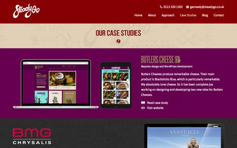 Screenshot of Case Studies Page steadygo.co.uk - Case Studies - SteadyGo - captured Oct. 9, 2014