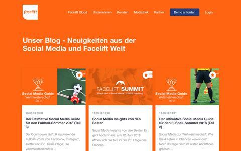 Screenshot of Blog facelift-bbt.com - Market Insights | Facelift - captured Sept. 23, 2018