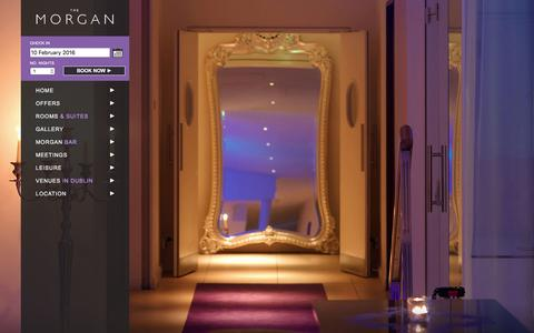 Screenshot of About Page themorgan.com - The Morgan Hotel in Templebar | Fitzpatrick Lifestyle Hotels Dublin - captured Feb. 10, 2016
