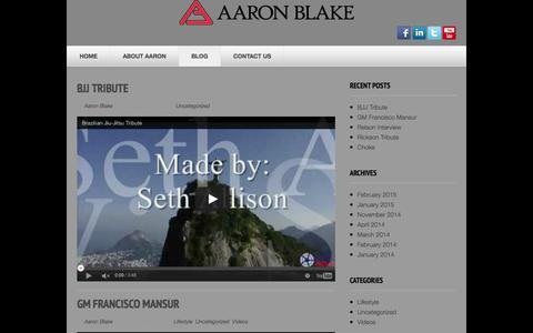 Screenshot of Blog blakebjj.com - Blog | - captured Feb. 7, 2016