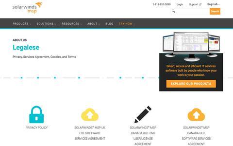 Legal | SolarWinds MSP