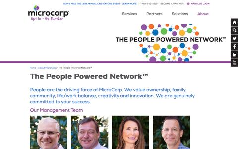 Screenshot of Team Page microcorp.com - The People Powered Network™ - MicroCorp - captured Aug. 10, 2016