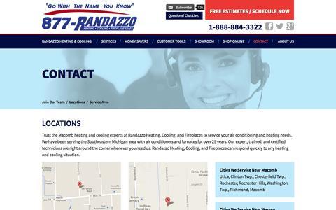 Screenshot of Locations Page callrandazzo.com - Locations - captured Oct. 26, 2014