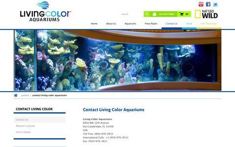 Screenshot of Contact Page livingcolor.com - Contact Living Color Aquariums   Living Color Aquariums - captured Oct. 2, 2014