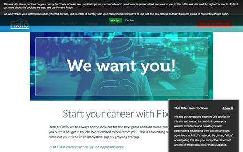 Screenshot of Jobs Page fixflo.com - Jobs | Fixflo - captured Aug. 14, 2018