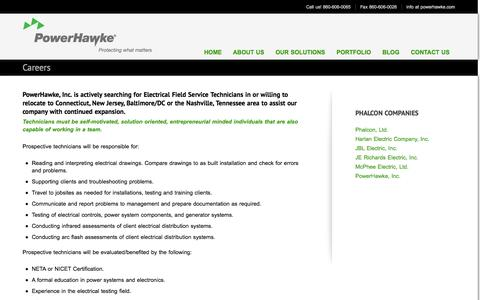 Screenshot of Jobs Page powerhawke.com - Careers at PowerHawke - captured Nov. 2, 2014