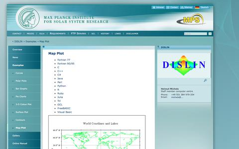 Screenshot of Maps & Directions Page mpg.de - Map Plot | Max Planck Institute for Solar System Research - captured June 29, 2018