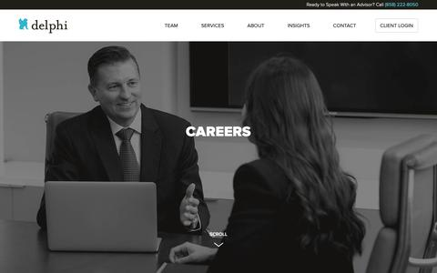 Screenshot of Jobs Page delphiprivate.com - Careers - Delphi Private Advisors - captured Oct. 8, 2018