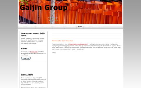 Screenshot of Blog gaijingroup.com - Blog - Gaijin Group - captured Sept. 29, 2014