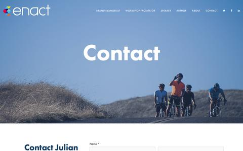 Screenshot of Contact Page enactagency.com - Contact — Enact - captured July 10, 2016