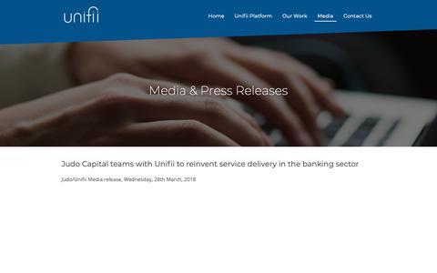 Screenshot of Press Page unifii.com.au - Media - Unifii - captured Oct. 18, 2018