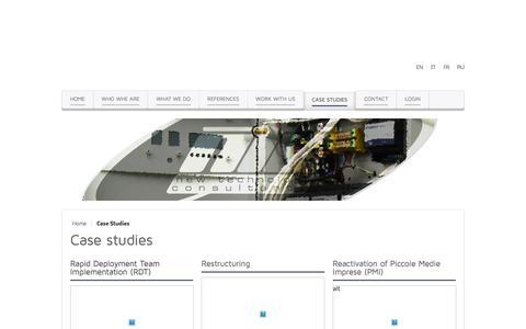 Screenshot of Case Studies Page newtechnologyconsultants.com - Case Studies - New Technology Consultants - captured Aug. 13, 2016