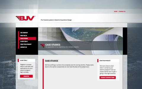 Screenshot of Case Studies Page bjv-3ddesign.com - BJV - - Case Studies - captured Oct. 4, 2014