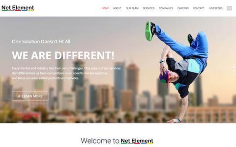 Screenshot of Home Page netelement.com - Net Element - captured July 3, 2015